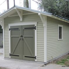 10'x15' Storage Shed for a Bungalow by Historic Shed - Custom garden shed designed to complement a bungalow.