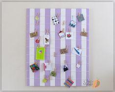 Bulletin Board, Display Board, Purple Room decor, Card Display, Memo Holder, Purple Room, Office Organization, Room Organizer, Wall Art Teen