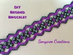 Materials for this project are:- Size MIYUKI Seed Beads Size seed beads Beading thread Beading needle Clasp of your choice ❤️Don't forget to Subscri. Beaded Bracelets Tutorial, Bead Loom Bracelets, Netted Bracelet, Beaded Jewelry Patterns, Beading Patterns, Making Bracelets With Beads, Beading Tutorials, Diy Earrings, Artisanal
