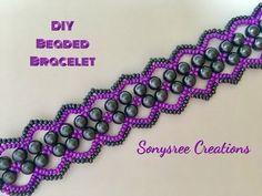"""""""Vault"""" Bracelet !! Easy to make beaded Bracelet - YouTube"""