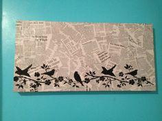 Newspaper art- easy!