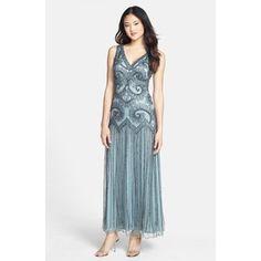 Women's Pisarro Nights Beaded Mesh Gown
