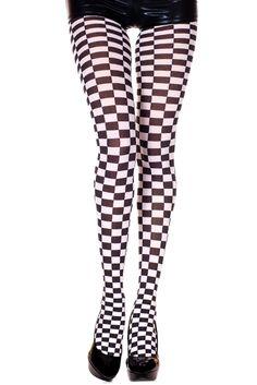 Music legs - Checkerboard Print