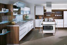 Wonderful White and Natural Wood Kitchen Design – Exquisite Kitchen Design by Bauformat