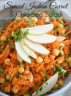 Spiced Indian Carrot and Chickpea Salad by Sweet Hersey Living
