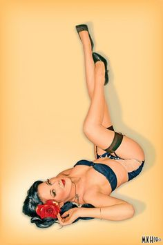 Dark-Haired Pin-Up Girl | Tattoo Ideas & Inspiration - Pinups | Candace Campbell pinup photography