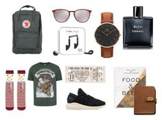 """Untitled #7"" by marie-neradova on Polyvore featuring Ray-Ban, Happy Plugs, PHAIDON, Mulberry, Daniel Wellington, Chanel, Accessorize, George, adidas Originals and Fjällräven"