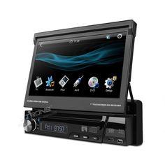 """Auto-rádio com ecrã 7"""" DVD, Bluetooth, Ipod e USB"""