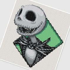 PDF Cross Stitch pattern : 0244.Jack The Nightmare Before Christmas by PDFcrossstitch
