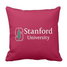 """Shop Stanford University with Cardinal Block """"S"""" & Tree Throw Pillow created by Stanford. Ivy University, University Outfit, Stanford University, English Writing Skills, Education College, Custom Pillows, Bedroom Ideas, Sweatshirt, Organization"""