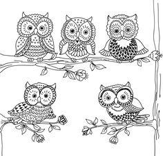 Amazon.com: Owl Town Adult Coloring Book (31 stress-relieving designs) (Studio Series) (9781441321213): Peter Pauper Press: Books Owl Coloring Pages, Coloring Books, Owl Stencil, Owl Artwork, Flower Doodles, Rock Crafts, Applique Patterns, Stuffed Animal Patterns, Nocturne