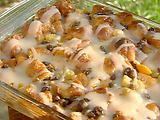 Krispy Kreme Bread Pudding with Butter Rum Sauce