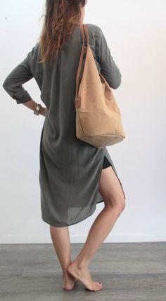 Camel leather tote bag Soft leather bag Charley door LadyBirdesign