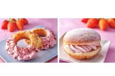 【ピンクなドーナツ】セブンから「いちごチョコ」と「いちごホイップ」ドーナツが新発売!  今日から順次発売です♪ #セブンイレブン #セブン #ドーナツ #いちご