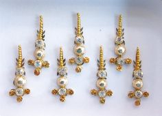 Packs Of Gold Long Face Jewels Bollywood by Beauteshoppe on Etsy