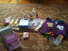 doula bag- some good ideas and a good starting point. Though I would use different product brands.