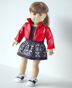 American Girl Doll Clothes -- Cropped Jacket, Top, and Skirt  -- 3 Piece Outfit via ampmcreationstoo on Etsy