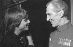 Mark Hamill & Peter Cushing...never before seen tarkin smile