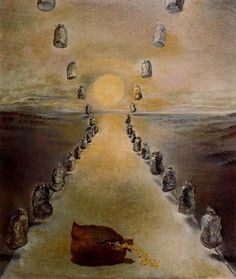 El camino del enigma (primera versión) Salvador Dalí - 1981. Óleo sobre lienzo. 65.5 x 54.1 cm. Museo Nacional Centro de Arte Reina Sofia. Madrid. España. Donación de Dalí al Estado español.