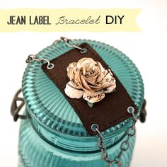 How-To: Jeans Label Bracelet #bracelet #upcycle #jeans