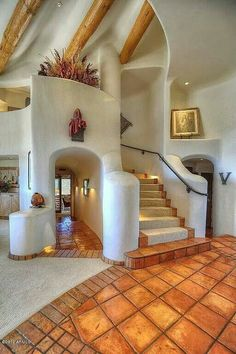 Pueblo-style staircase in Scottsdale, AZ - My-House-My-Home