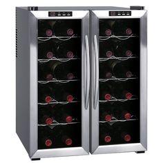 Found it at AllModern - 24 Bottle Dual Zone Freestanding Wine Refrigerator