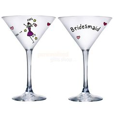 Personalised Purple Ronnie Bridesmaid Cocktail Glass  from Personalised Gifts Shop - ONLY £16.95