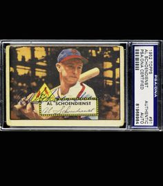 Red Schoendienst 1952 Topps 91 Signed Autographed PSA DNA 81968984 Cardinals | eBay #redschoendienst #shoendienst #1952 #topps #signedcard #autograph #cardinals