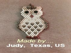 Pattern to make a Bird Pendant in Super Duo or Mini Duo Beads. by Butterfly Bead Kits Jewelry Crafts, Jewelry Ideas, Super Duo Beads, Owl Crafts, Bead Kits, Owl Necklace, Owl Pendant, Cute Owl, Beading Patterns