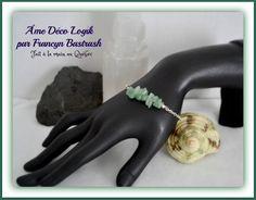 Bracelet douceur aventurine véritable, chaîne métal argent, litho thérapie, pouvoir des pierres fines, anniversaire fête des mères, noël de la boutique AmeDecoLogikFB sur Etsy