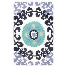 Indoor/outdoor rug with a medallion motif.    Product: Rug    Construction Material: Polyester and acrylic blend ...