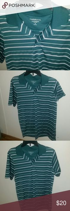 Mens Croft&Barrow Performance Cool & Dri Tee NWOT Croft&Barrow Performance Cool and Dri Polo Tee Men's Size Small. Color is Green with white stripes, Short Sleeves New Without Tags croft & barrow Shirts Tees - Short Sleeve