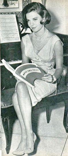 Natalie Wood reading West Side Story script