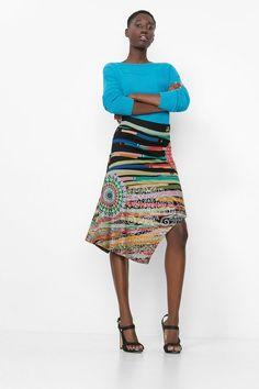 Multicolored tube skirt | Desigual.com