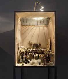 Charles Matton, Enclosures (ongoing project) - Francis Bacon's studio Miniature Rooms, Miniature Houses, Giacometti, Bokashi, Arte Popular, Assemblage Art, Stage Design, Rembrandt, Land Art