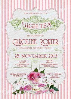 Vintage Tea Party Invitations Tea party invitation 1