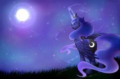 Luna under the night sky by Scarlet-Spectrum.deviantart.com on @DeviantArt