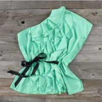 Mint Green Ruffle Blouse 2