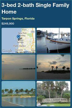 3-bed 2-bath Single Family Home in Tarpon Springs, Florida ►$249,900 #PropertyForSale #RealEstate #Florida
