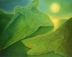 Luz Vegetal - Pintura com técnica mista (80x100cm) signed by the author Mário Ferraz