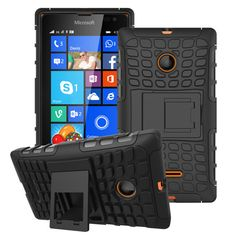 For Microsoft Nokia Lumia 435 Case Hybrid Kickstand Rugged Rubber Armor Hard PC+TPU 2 In 1 With Stand Function Cover Cases | Price: US $3.50 | http://www.bestali.com/goto/32310731263/10