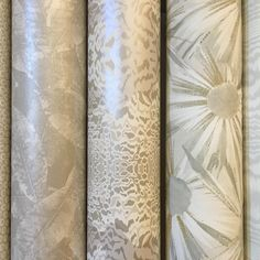 Winter whites! Wallpaper display at our Munich showroom.