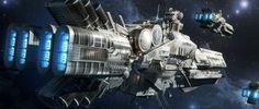 Resultado de imagem para Spaceships concept art