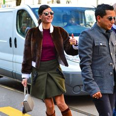 Giovanna Battaglia by Mario Villanueva. Thumbs up for your beautiful outfit.