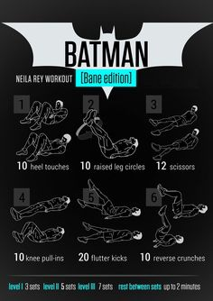 Keep Your Resolve With the Batman Workout Bane Edition Movie Workouts, Hero Workouts, Gym Workout Tips, Street Workout, Workout Challenge, At Home Workouts, Batman Workout, Superhero Workout, Boxe Mma