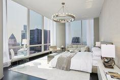 Luxus-Penthouse in der Innenstadt Kansas City Luxury Penthouse, Luxury Condo, Luxury Home Decor, Contemporary Interior Design, Contemporary Bedroom, Modern Bedroom, Modern Condo, Contemporary Kitchens, Trendy Bedroom