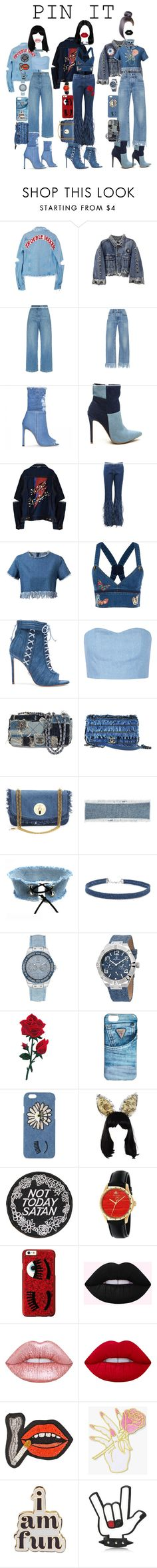 """""""Denim Apocalypse"""" by sjaade ❤ liked on Polyvore featuring High Heels Suicide, Rachel Comey, 3x1, Michael Kors, Chicnova Fashion, Valentino, Oscar Tiye, Julien David, Chanel and See by Chloé"""