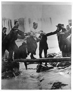 """""""Annie Edson Taylor was an American adventurer who, on her 63rd birthday, October 24, 1901, became the first person to survive a trip over Niagara Falls in a barrel. Desiring to secure her later years financially, and avoid the poorhouse, she decided...[to attempt the stunt]. Taylor used a custom-made barrel for her trip, constructed of oak and iron and padded with a mattress...Rescuers reached her barrel shortly after the plunge. Taylor was discovered to be alive and relatively…"""
