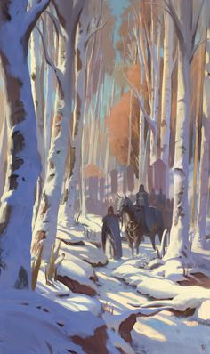 ArtStation - Winter forest, yeonji Rhee
