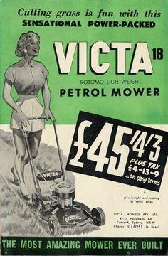 vintage mowers victa lawn mower